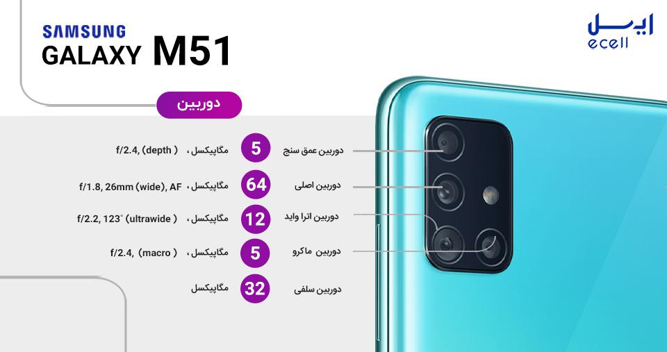 دوربین گوشی M51