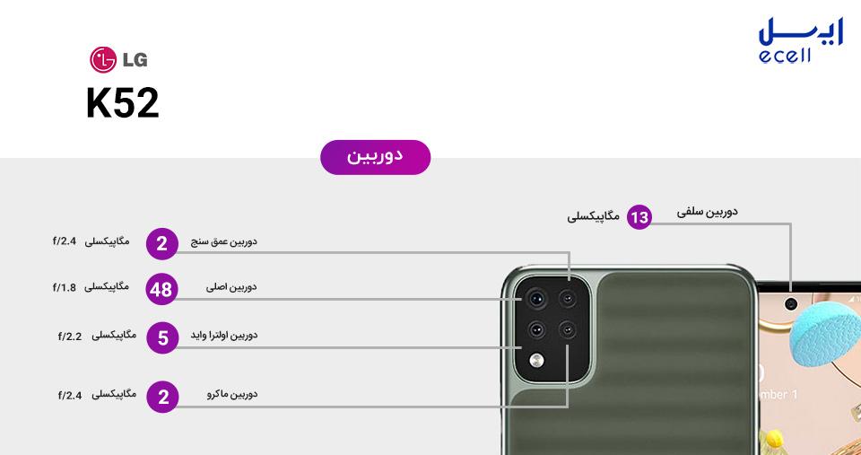 دوربین گوشی K52