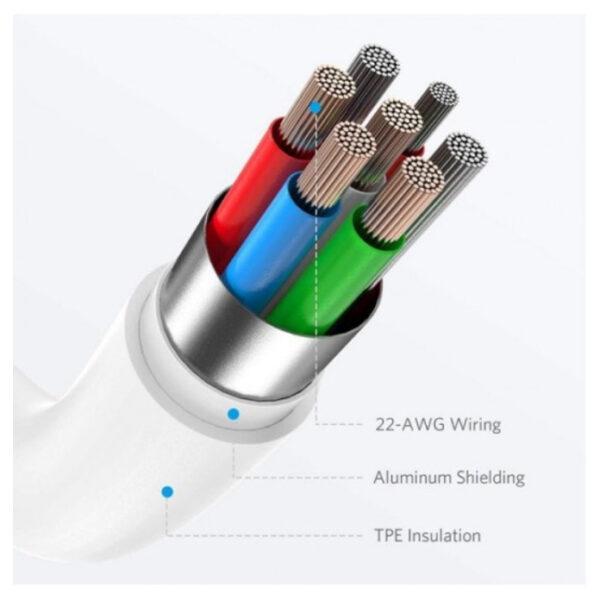 کابل تبدیل USB-C به لایتنینگ انکر مدل A8612 طول 0.9  متر