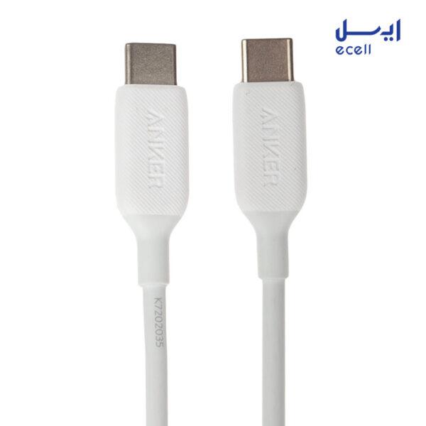 شارژر دیواری انکر مدل B2019 به همراه کابل تبدیل USB-C