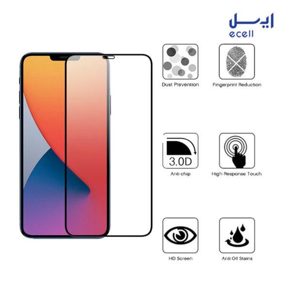محافظ صفحه نمایش 5D بوف مدل مناسب برای گوشی موبایل آیفون 12