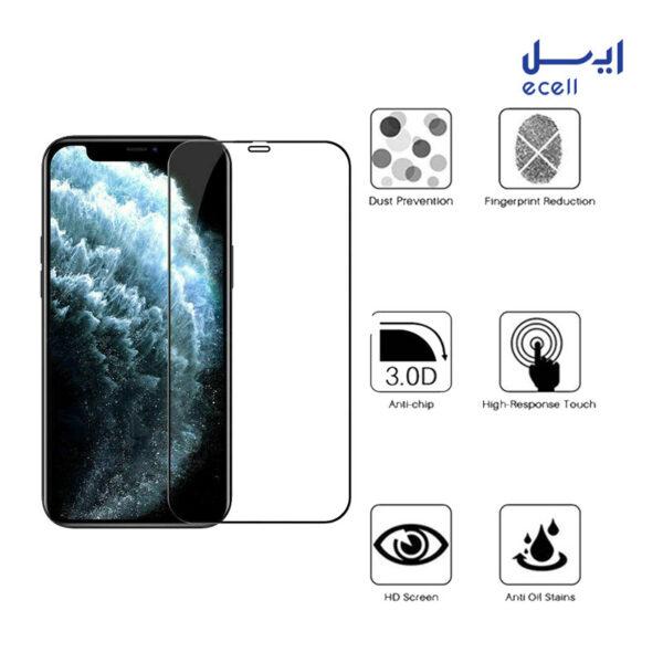 محافظ صفحه نمایش 5D بوف مناسب برای گوشی موبایل آیفون 12 پرو مکس