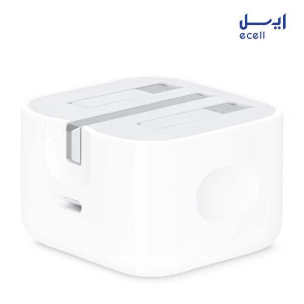 شارژر دیواری اورجینال اپل مدل (20W USB-C Power Adapter (A2344